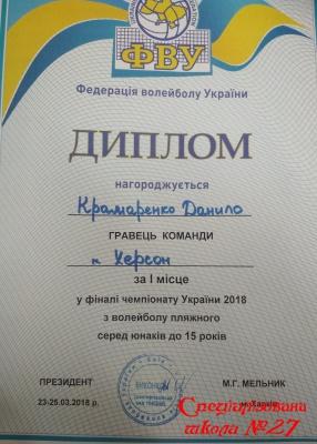 Вітаємо чемпіона України 2018 з волейболу!