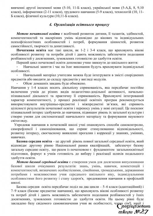 Освітня програма закладу на 2021-2022 н.р.